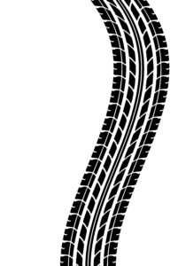 tire track curvy